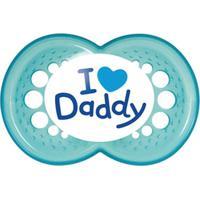 Chupeta Mam Mom E Dad 6+ Meses Azul 2 Unidades
