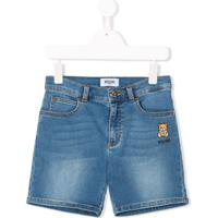 Moschino Kids Bermuda Jeans - Azul