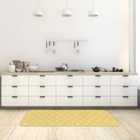 Tapete De Cozinha Mdecore Abstrato Amarelo 40X120Cm