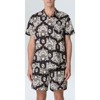 Camisa Arabesco Pine Mc-Preto/Offwhite - P