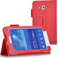 """Capa Agenda Para Tablet Samsung Galaxy Tab3 7"""" Sm- T110 T111 T113 T116 Vermelho"""
