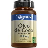 Óleo De Coco 60 Cáps - Vitaminlife - Feminino