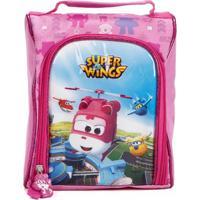 Lancheira Super Wings Infantil - Rosa