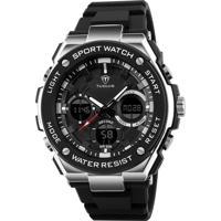 Relógio Tuguir Digital Tg1187 Preto E Prata