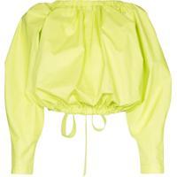Molly Goddard Blusa Cropped Com Amarração - Verde