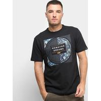 Camiseta Hd Branch Masculina - Masculino-Preto