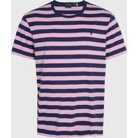 Camiseta Polo Ralph Lauren Listrada Azul-Marinho/Rosa