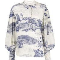 Chloé Blusa Com Estampa - Branco