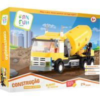 Blocos De Montar - Construção - Caminhão Betoneira - Fanfun