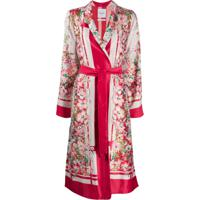 Black Coral Robe Com Estampa Floral - Rosa