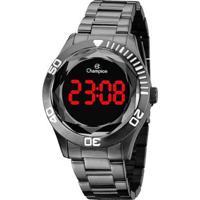 Relógio Champion Digital Ch48073C Feminino - Feminino-Chumbo