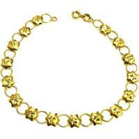 Pulseira Estrela De Ouro - Feminino-Dourado