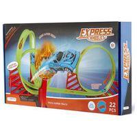 Pista De Corrida Super Track Com Loop 360º 1 Carrinho E 22 Peças Indicado Para +5 Anos Multikids - Br1016 Br1016