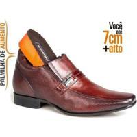 Sapato Social Masculino Em Couro Alth 7Cm Rafarillo - Masculino-Marrom