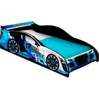 Cama Carro Drift Solteiro Azul