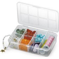 Caixa Organizadora Plástico 7 Compartimentos Transparente