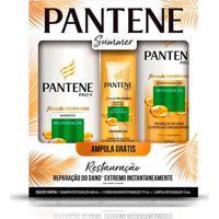 Kit Shampoo Pantene Restauração 400Ml + Condicionador 170Ml + Ampola Sortida 15Ml