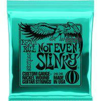 Encordoamento Para Guitarra Ernie Ball Not Even Slinky 2626 Regular