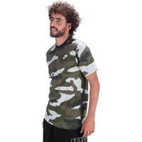 Camiseta Nike Sportswear Camo Aop Ss T - Masculina - Verde Escuro
