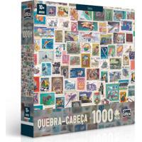 Quebra-Cabeça - 1000 Peças - Coleções - Selos - Toyster - Unissex-Incolor
