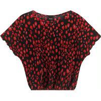 Blusa Vermelho Ampla Xadrez