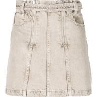 Proenza Schouler Saia Jeans Com Efeito Manchado - Marrom