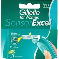 Carga Gillette Sensor Excel For Women Com 3 Unidades