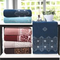 Kit Toalha De Banho Elegance Azul Dark - 4 Un
