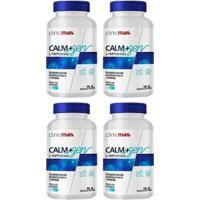 Kit 4X Calm+Zen Ltriptofano 60 Cápsulas Clinic Mais - Unissex
