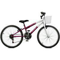 Bicicleta Master Bike Aro 24 Feminina Serena Plus 21 Marchas Roxo