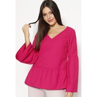 Blusa Com Franzidos & Recortes - Pinkmoiselle