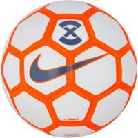 Bola De Futebol De Campo Nike Strike X 2019 - Branco/Laranja
