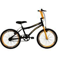 Bicicleta Top Aro 20 Atx Preta E Amarelo Athor Bike