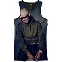 Camiseta Bsc Regata Chris Breezy Full Print - Masculino-Preto