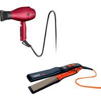 Chapinha Taiff Titanium Colors + Secador Taiff Kompress 220V - Vermelho - Feminino - Dafiti
