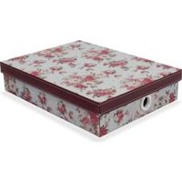 Caixa Organizadora Flower- Rosa Escuro & Bordô- 7X34Boxmania