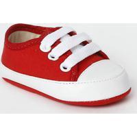 Tênis Com Recortes- Vermelho & Brancotico Baby