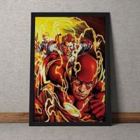 Quadro Decorativo The Flash Quadrinhos Dc Comics 25X35