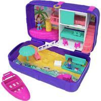Playset Com Mini Boneca E Veículo - Mini Polly Pocket - Polly Lugares Escondidos - Praia - Mattel