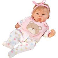 Boneca Com Acessórios - Reborn Happy - Teddy - Shiny Toys - Feminino-Incolor