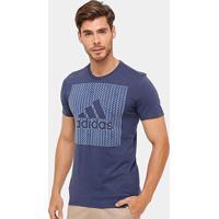 Camiseta Adidas Mc Bos Knitted Masculina - Masculino-Azul