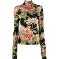 Zimmermann Blusa Com Estampa Floral - Preto