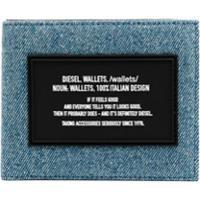 Diesel Carteira Jeans Dobrável - Azul