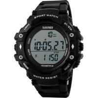 Relógio Skmei Digital Pedômetro Masculino - Masculino-Preto