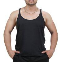 Camiseta Regata Super Cavada Academia Masculino Preto