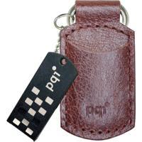 Pen Drive Pqi I820 8Gb 2.0 Capa De Couro Marrom