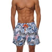 Shorts Escatch Estampado Grace Bay - Zebra