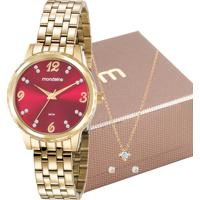 Kit Relógio Mondaine Feminino 99358Lpmkde2K2
