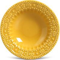 Prato Fundo Esparta Cerâmica 6 Peças Mostarda Porto Brasil