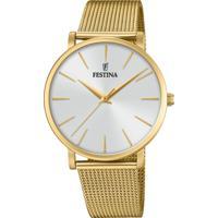 Relógio Festina Feminino Aço Dourado - F20476/1